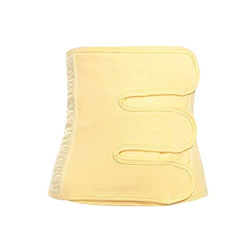 LONMEI Bauchband Nach Geburt - Postpartum Gürtel Unterstützung Korsett Bauchweg Recovery Bauch Taille Schlankheits Trainer Band, Gelb/L