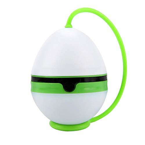 VGEBY1 Luz de Camping, lámpara de Carpa Recargable, Forma de Huevo, Linterna de Emergencia con Cuerda para Colgar de Silicona(Verde)