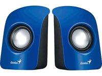 Genius SP-U115 - Altavoces estéreo USB, 1.5 W, RMS, Color Azul
