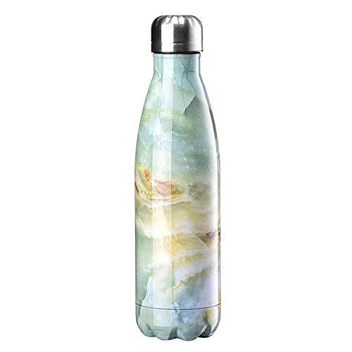 Wasserflasche, 500 ml BPA-freie, vakuumisolierte Edelstahl-Wasserflaschen, auslaufsichere, doppelwandige Trinkflasche for heiße und kalte Sportgetränke for Heim-, Arbeits- und Outdoor-Sportarten Wasse