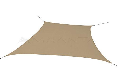 Maanta voile d'ombrage imperméable - Polyester 160gr/m2 - Carrée 5 X 5 Mt. - Sable