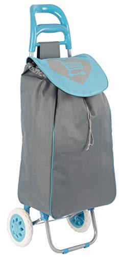 hibuy Einkaufstrolley 25Liter mit weichen Gummi Komfortrollen Farbe: Blau