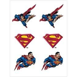 Superman Tattoos 2 Sheets by Party America