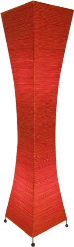 Guru-Shop Lampe à Poser/Lampe à Poser en Titane - Petite Lampe Design Artisanale de Bali, Fils de Coton, Rouge, Filsdecoton, Couleur : Rouge, 50x18x18 cm, Luminaires sur Pied Modernes et Classiques
