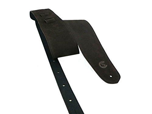 Preisvergleich Produktbild Gitarren und Bass strap in dunkelbraunem Wildleder Custom Style t8sutm