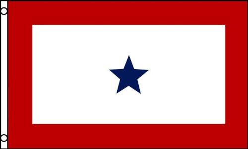 BANDIERA STATI UNITI BLUE STAR SERVICE 150x90cm - BANDIERA SERVICE BANNER 90 x 150 cm - AZ FLAG
