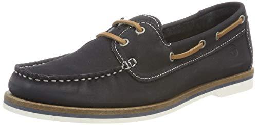 Tamaris Damen 1-1-23616-22 827 Sneaker, Blau (Navy Nubuc 827), 36 EU
