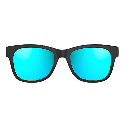 VocalSkull Knochenleitung Bluetooth 4.1 Sonnenbrille Drahtloser Stereo Kopfhörer Wasserdicht Wireless Polarisierte Sports Mikrofon für IOS/Android/PC Mattiert Blau (Anti-blaues Licht)
