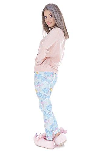 Kukubird Gedruckte Muster Frauen Yoga Leggings Gym Fitness Running Pilates Strumpfhose Skinny Pants 8 bis 12 Stretchable Unicorn Clouds