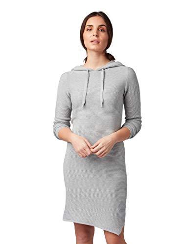 TOM TAILOR für Frauen Kleider & Jumpsuits Strickkleid mit Kapuze Silver Grey Melange, 36