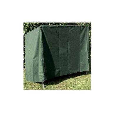 Hochwertige Schutzhülle / Abdeckhaube für Hollywoodschaukel 148x135x150 cm (2-Sitzer) aus grünem Polyesterstoff