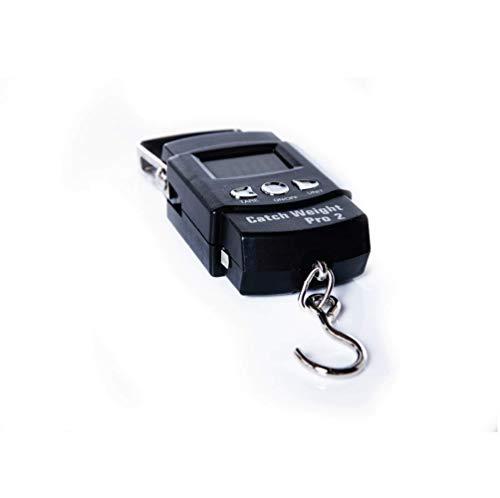 Catch Weight Pro 2, Peson Électronique de Pêche –le peson électronique portable de dernière technologie ! Avec son design compact, ce peson facile à utiliser vous montre le poids en kilogrammes sur l'écran LCD rétroéclairé