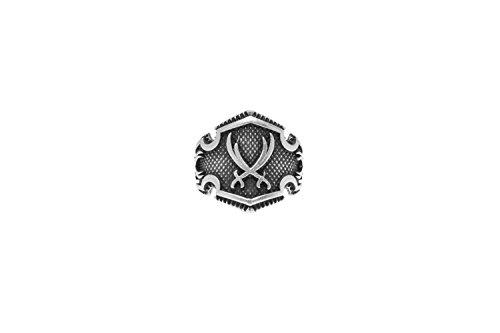 Gök-Türk Ring für Herren '2 Schwerte' Zülfikar Zulfiqar Dhu l-faqar - verstellbare Größe -