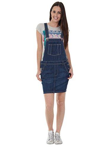 USKEES CLAIRE Kurze Latz Kleid - Denim Indigoblau übergroße Oversized Latzhosenk CLAIREINDIGO-10