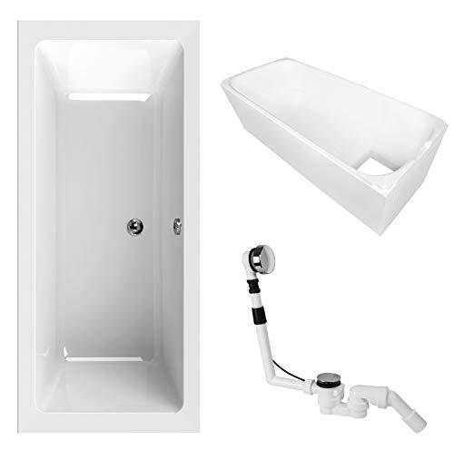 'aquaSu® 83043 0 Acryl-Wannenset Luxus, 180 x 80 cm, Weiß