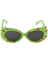 Stoln Kids sunglasses Flower Design Girls Designer Kids Sunglasses Black Glass Green Frame