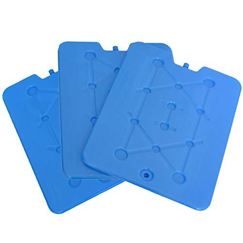 all-around24 3 Stück Kühlakkus für Kühltasche Kuhlakku Platte extra Flach und Groß Freezeboard Kühlelemente
