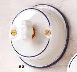 Interruptor basculante de cerámica a mariposa rústico vintage country