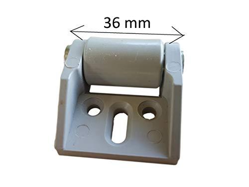 316TNTCClKL - (Lot de 8) de 16mm en caoutchouc de roue Plastique Roulettes pivotantes plaque de métal avec meubles Appliance et équipements Petite Mini Ensemble de roues de roulettes