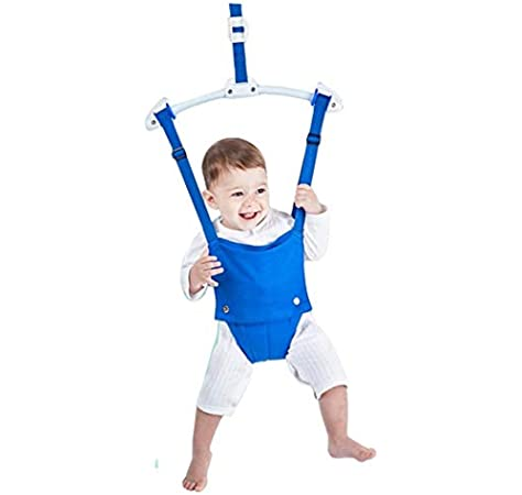 Renoble Baby Door Jumper Swing Chair With Bumper Doorway Clamp Bouncer Jump Hanging Seat Exerciser With Adjustable Strap For Toddlers Infants Activity Training 6-18 Months Bearing Capacity 18kg
