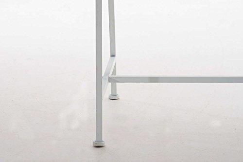CLP Gartenbank ABIONA im Landhausstil, Eisen lackiert (Metall) ca 110 x 50 cm Weiß - 8