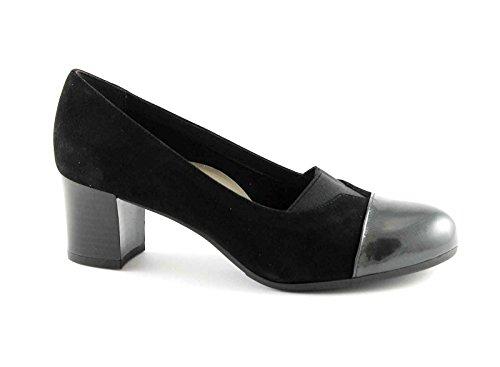 GRUNLAND CIAC SC2321 topo nero scarpe donna decolletè elasticizzato 41