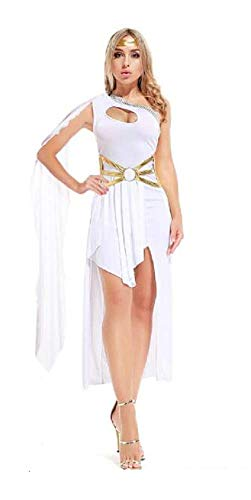 Lovelegis (Weiß) One Size - Sexy Griechische Göttin Kostüm Sexy - Verkleidung Karneval Halloween Cosplay Zubehör - Frau Mädchen