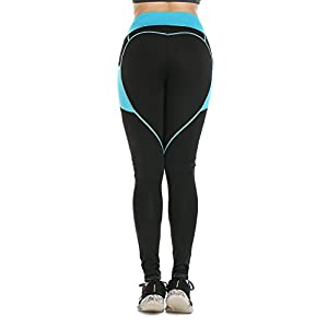 316TXcFn8aL. SS300  - Women Heart-Shaped Power Stretch High Waist Fitness Running Workout Leggings