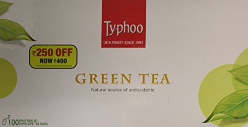 Typhoo, Natural Green Tea Lemon & Honey with 25 Heat Sealed enveloped...