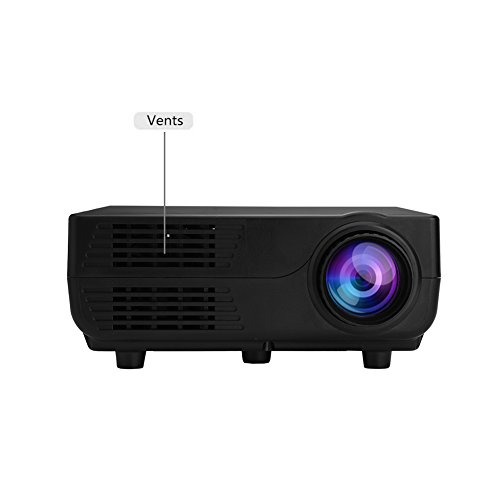 Mini LED Video Projector  Portable Multimedia Home Theater Video Projector with 150ANSI Lumens 1000 1 Contrast Ratio Compatible with 1920 1080P for Home Theatre Entertainment Games Parties  UK