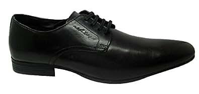 Red Tape Men's Derbys Black Leather Formal Shoes - 11 UK