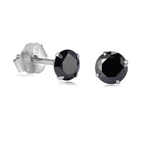 womens-earrings-925-sterling-silver-cubic-zirconia-round-crystal-cz-stud-black-3mm