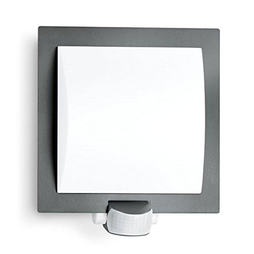 Steinel Luminaire extérieur L20 avec détecteur de mouvements à 10 m - Applique murale 60W avec capteur de présence - Lampe extérieure élégante gris anthracite