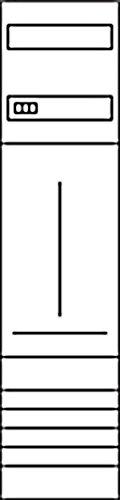 HAGER ZH33X7 KF  1ZP  UNIV Z  H 1050MM  1-FELD
