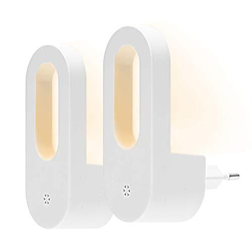 Opard LED Nachtlicht mit Dämmerungssensor Kinder Nachtlicht Sehr gut für Kinderschlafzimmer Badezimmer Flur Treppenaufgang Korridor Schrank oder ein dunkles Zimmer Warmes weißes 2 Stück