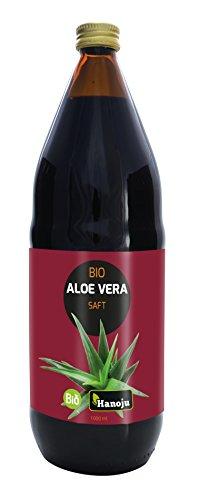 Bio Aloe Vera Saft mit 600 mg Aloverose 1000 ml - Hanoju Premium Saft aus kontrolliert biologischem Anbau - Aloe-vera-saft-flüssigkeit