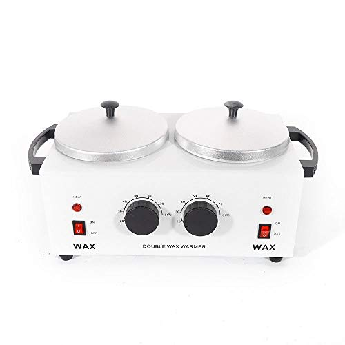 QQWAX Double Pot Hot Wax Machine, Elektrisches Wachs mit Double Pot, Professioneller, tragbarer Haarentfernungs-elektrischer Wachs-Wärmer, schnelles Aufheizen, intelligente konstante Temperatur