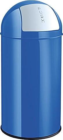 Helit H2401434 Metall- Abfallbehälter, 50 L, blau