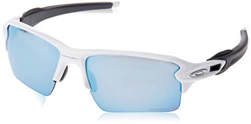 Oakley Herren Flak 2.0 Xl 918882 59 Sonnenbrille, Weiß (Polished White/Prizmdeeph2Opolarized),