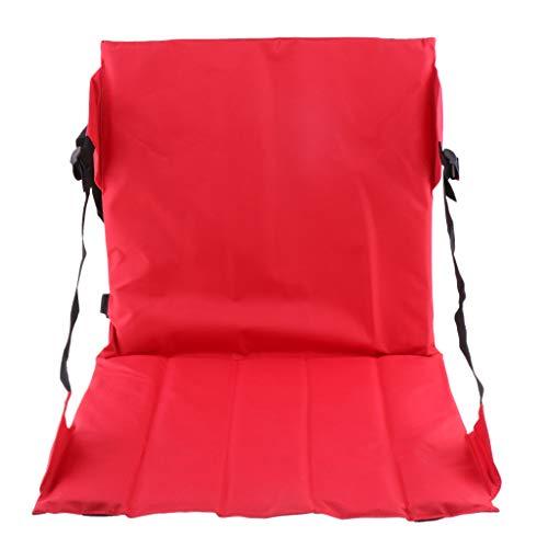 F Fityle Sitzkissen Sitzsack Bodenkissen Stadionkissen Boden Sessel mit Lehne Klappbar 43 x 45cm - Rot