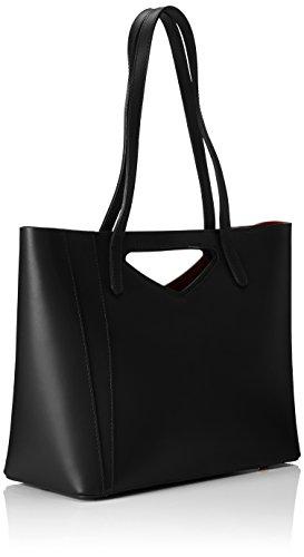 Chicca Borse Damen 8610 Schultertasche, 40x38x14 Cm Nero (black)