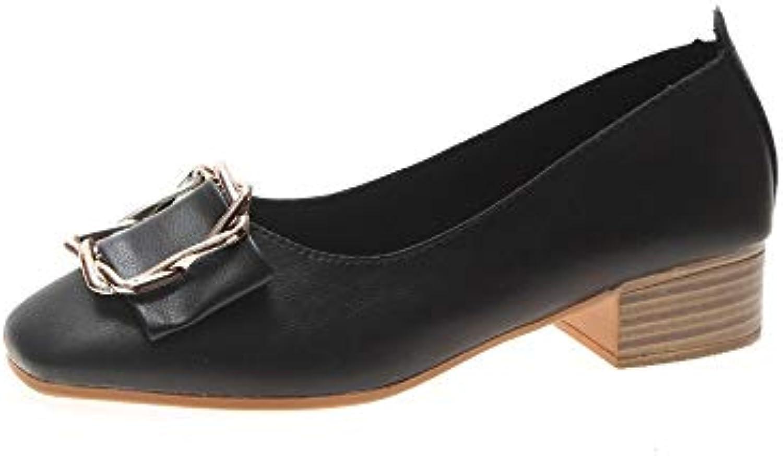 Mocassini Il Singolo della Molla Quadrata delle Scarpe Femminili della Paletta del Quadrato di Modo Ha Allineato... | Trendy  | Uomini/Donna Scarpa