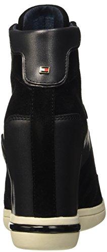 Tommy Hilfiger S1285Ebille 19C, Baskets Hautes Femme Noir - Nero (Black (990))