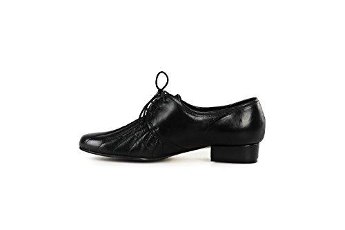 Scarpe comode SOFFICE SOGNO N.36 pelle donna nero con stringhe comfort X782