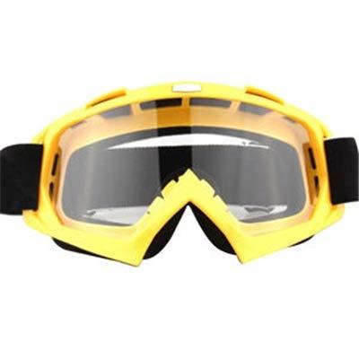 Vintage Sportbrillen Reitbrillen UV-Nebel-Schutz Winddicht Schutzbrillen für Outdoor Ski Snowmobile Fahrrad Motorrad Reise (Color : Yellow, Size : M)