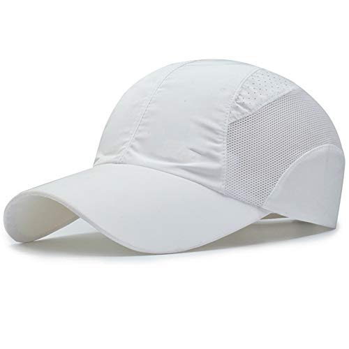 de Herren-Baseballmützen Lässige Sportmützen Für Den Außenbereich Sonnenschutzhüte Atmungsaktive Netzhüte (Weiß) ()