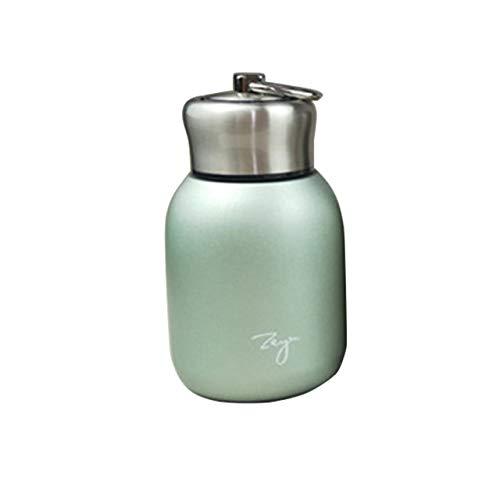 XOSHX 300 ml Mode Mini Kaffee vakuumflasche niedlichen Edelstahl Thermos tragbare Reise Flasche grün (Usa Stroh Edelstahl)