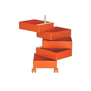 Magis ABS glänzend 360Grad Büro Container, Metall Plastik, Orange, 5 Drawers