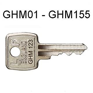 Pair of replacement Metal Filing Cabinet Keys in the LF ENGLAND range GHM 001-155 supplied by Lock Doctor Services Ltd Keymail Dept