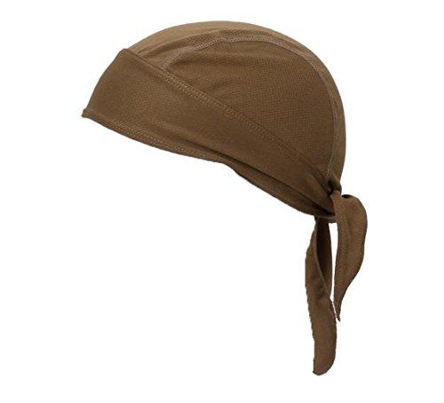 FakeFace Unisex Bandana Cap Kopftuch Kopfband Biker Hat Piratentuch in Verschiedenen Farben und Mustern Sport Fahrrad Braun